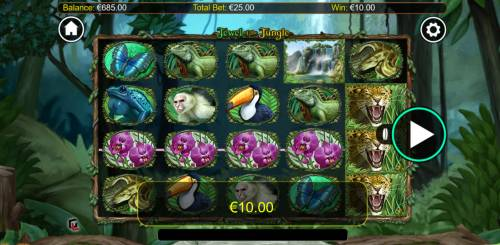 Jewel of the Jungle Big Bonus Slots Four of a kind