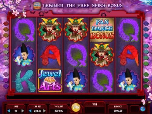 Jewel of the Arts review on Big Bonus Slots