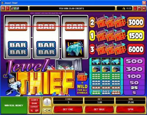 Jewel Thief review on Big Bonus Slots
