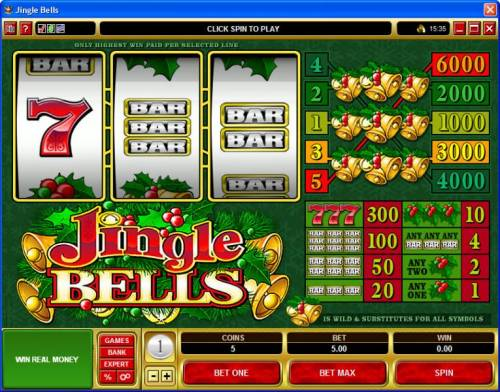 Jingle Bells review on Big Bonus Slots