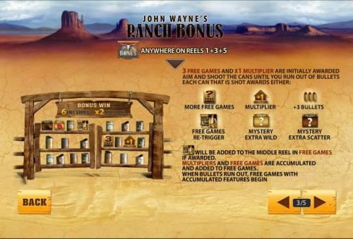 John Wayne review on Big Bonus Slots