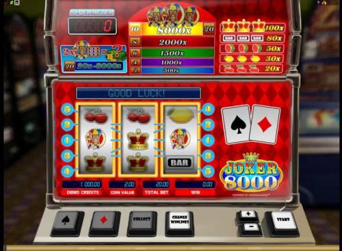 Joker 8000 review on Big Bonus Slots