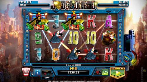 Judge Dredd review on Big Bonus Slots