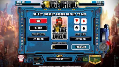 Judge Dredd Big Bonus Slots Gamble Feature game board