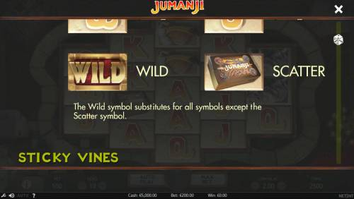 Jumanji Big Bonus Slots Wild and Scatter Symbol Rules