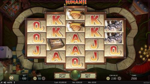 Jumanji Big Bonus Slots Main Game Board