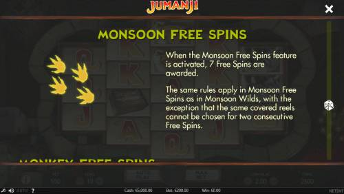 Jumanji Big Bonus Slots Monsoon Free Spins