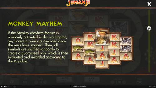 Jumanji Big Bonus Slots Monkey Mayhem