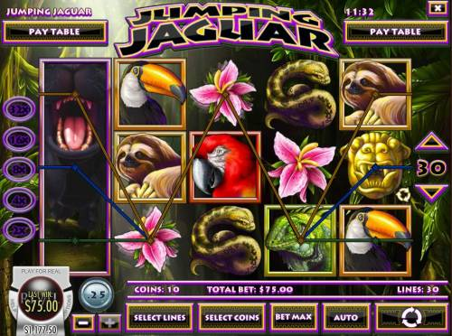 Jumping Jaguar review on Big Bonus Slots