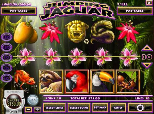 Jumping Jaguar review on Big Bonus Slots