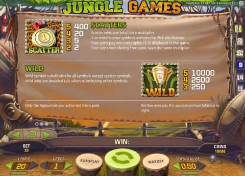 Jungle Games review on Big Bonus Slots