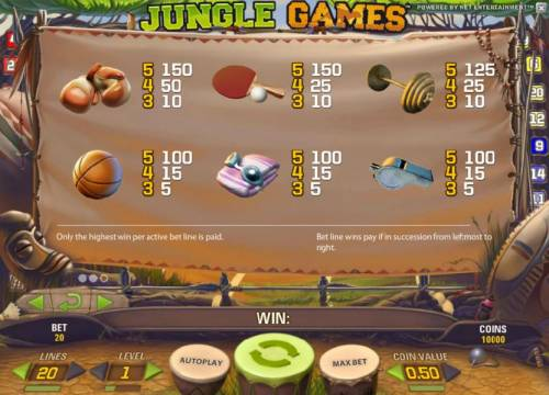 Jungle Games review on Big Bonus Slots