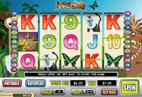Jungle King review on Big Bonus Slots