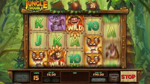 Jungle Trouble review on Big Bonus Slots