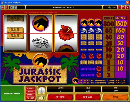 Jurassic Jackpot review on Big Bonus Slots
