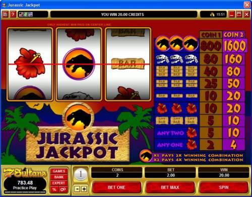 Jurassic Jackpot review on Big Bonus Slots