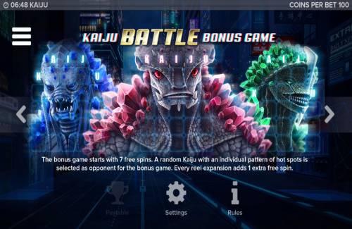 Kaiju review on Big Bonus Slots