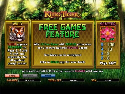 King Tiger review on Big Bonus Slots