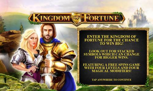 Kingdom of Fortune Big Bonus Slots Splash screen - game loading