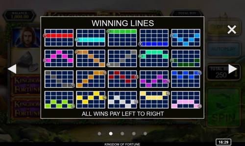 Kingdom of Fortune Big Bonus Slots Paylines 1-20