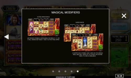 Kingdom of Fortune Big Bonus Slots Magical Modifiers - Continued