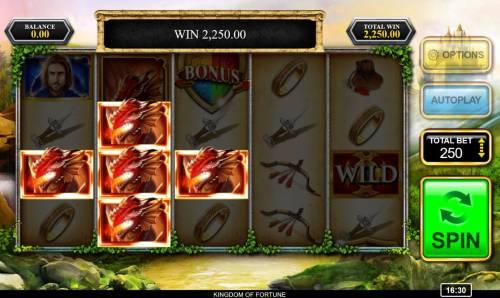 Kingdom of Fortune Big Bonus Slots Multiple winning paylines triggers a big win!