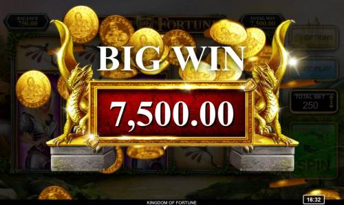 Kingdom of Fortune Big Bonus Slots A 7500 coin Big Win