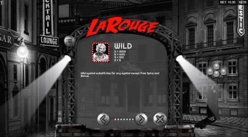 La Rouge Big Bonus Slots Wild Symbol Rules