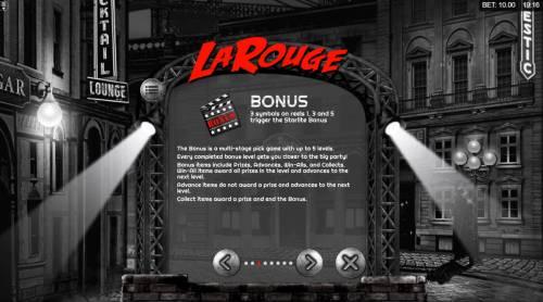 La Rouge Big Bonus Slots Bonus Game Rules