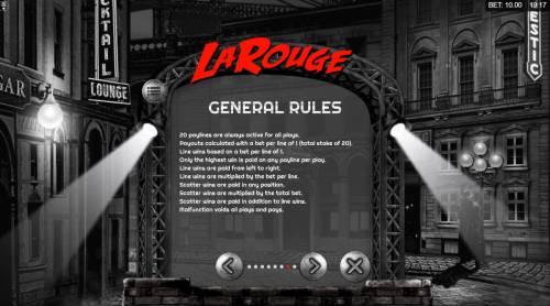 La Rouge Big Bonus Slots General Game Rules