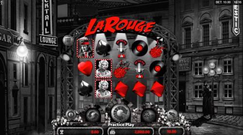 La Rouge Big Bonus Slots Main Game Board