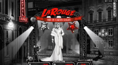 La Rouge Big Bonus Slots Red or Black Gamble feature