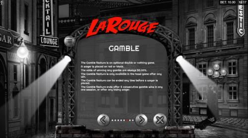 La Rouge Big Bonus Slots Gamble Feature Rules