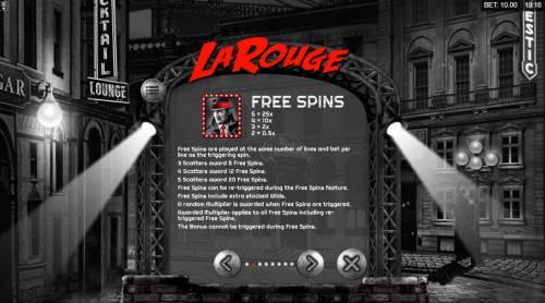 La Rouge Big Bonus Slots Free Spins Rules
