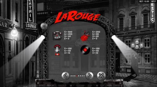 La Rouge Big Bonus Slots High Value Symbols
