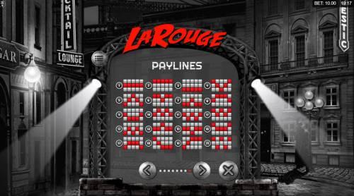 La Rouge Big Bonus Slots Paylines 1-20