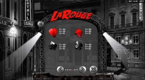La Rouge Big Bonus Slots Low Value Symbols