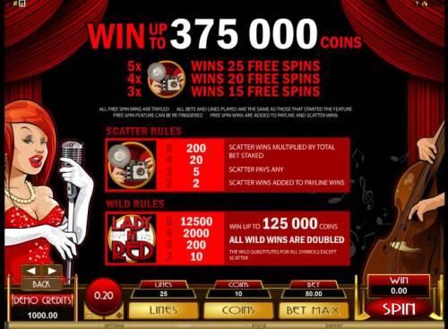 Lady in Red review on Big Bonus Slots