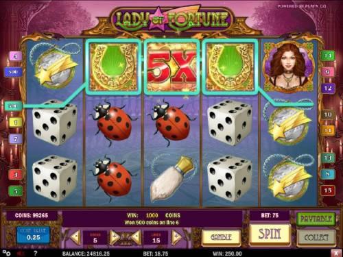 Lady of Fortune review on Big Bonus Slots