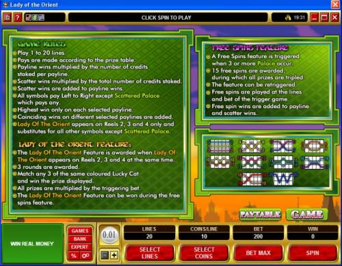 Lady of the Orient review on Big Bonus Slots