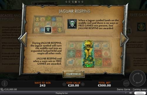Legend of the Jaguar review on Big Bonus Slots