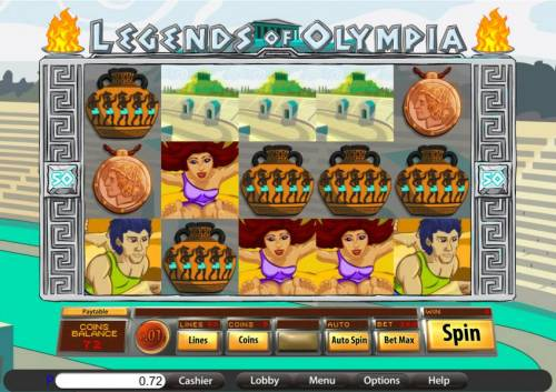 Legends of Olympia review on Big Bonus Slots