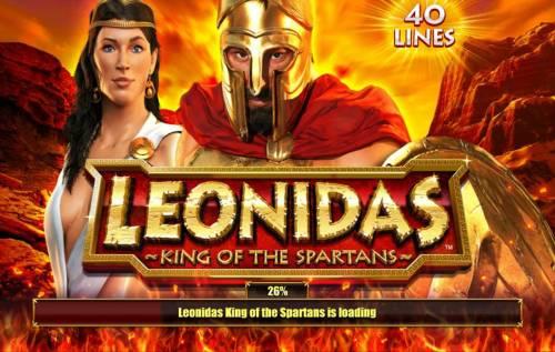 Leonidas King of the Spartans Big Bonus Slots Splash screen - game loading