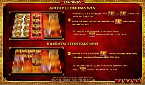 Leonidas King of the Spartans Big Bonus Slots Group Leonidas Win and Random Leonidas Win game rules