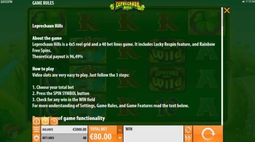 Leprechaun Hills review on Big Bonus Slots