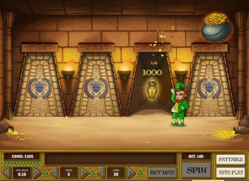 Leprechaun goes Egypt Big Bonus Slots we choose wisely and picked up a 1000 coin jackpot