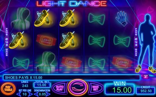 Light Dance Big Bonus Slots Four of a kind