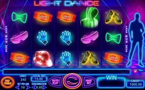 Light Dance Big Bonus Slots Main Game Board