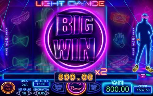 Light Dance Big Bonus Slots Big Win