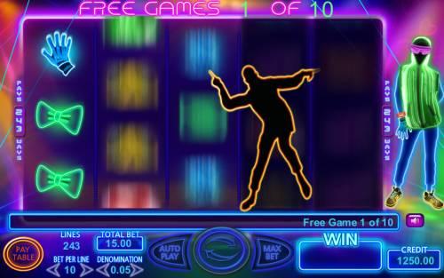 Light Dance Big Bonus Slots Free Spins Game Board